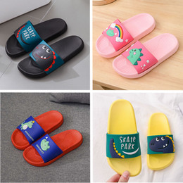 flip flops children Canada - High Quality Indoor Bathroom Shoes Beach slippers Summer Cartoon flip flops PVC men women Black Red Children Pink Green Designer Sandals