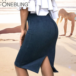 4741c990ce8e Stretchy Skirts NZ - OneBling Women Skirts Suede Female Lady Autumn Basic  High Waist Thicken Bodycon