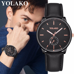 Best Male Wrist Watch Australia - Best Selling YOLAKO Brand Men Ultra Thin Watch Luxury Male Leather Business Clock Quartz Wrist Watch Relogio Masculino Hot