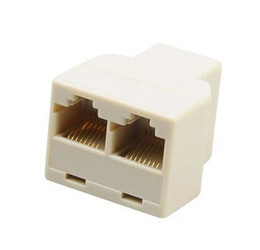 Lan Extender Connector Australia - RJ45 Splitter Connector CAT5 LAN Ethernet Splitter Adapter 8P8C Network Extender Plug Coupler