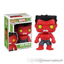 marvel wholesale mini figures NZ - Good new arrival Funko Pop Marvel Comics Avengers Red Hulk Bobble Head Vinyl Action Figure with Box #209 Toy Gift