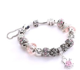 beautiful silver bracelets for girls NZ - 5 style pandora charm bracelets European and American popular silver plated beautiful jewelry for women girl mix order free shipping