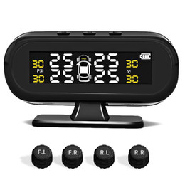 Monitor tests online shopping - Temperature Test Universal Car Accessories Solar Powered Easy Install Wireless LCD Display Auto Alarm Tire Pressure Monitor