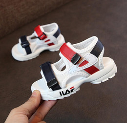 Baby Girl Cute Sandals Australia - Girls Boys Brands Summer Sandals Children Soft Sole Beach Sandals 1-8 Years Old Baby Anti-slip Cozy Cute Kids Sport Shoes Y19051303