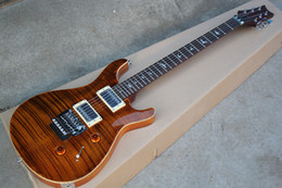 floyd rose guitar body UK - Factory Custom Brown Electric Guitar with Floyd Rose,Bird Fret Inlay,Flame Maple Veneer,Can be Customized