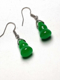 $enCountryForm.capitalKeyWord UK - Natural Green Jade 925 Sterling Silver Hook Earrings