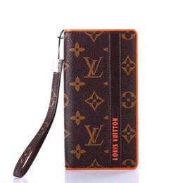 Venta al por mayor de Diseñador de lujo de moda monedero de cuero Flip Case para iPhone X XS Max XR cubierta de cuero para Iphone 8 7 6 6 S plus caso de marcas de alta calidad