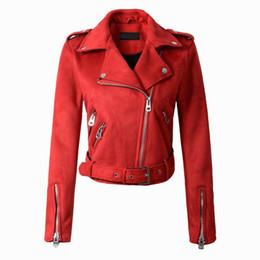 women blazers sale 2019 - 2018 Hot Sale Women Faux Leather Jacket Stud rivet Moto Biker Zip Coats Chaqueta Blazer PU Jaqueta Couro Rock Cuir Femme