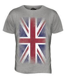 $enCountryForm.capitalKeyWord Australia - UNION JAPrint FADED FLAG MENS T-SHIRT TEE TOP UK GB GREAT BRITAIN UNITED KINGDOM
