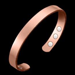 Ingrosso Braccialetto magnetico di rame che guarisce il braccialetto di terapia magnetica del braccialetto del polsino del braccialetto di sollievo dal dolore di terapia di artrite di terapia biologica per le donne