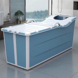 Großhandel Erwachsene Folding Badewanne Haushalt Bad Barrel Tragbare Badeeimer zusammenklappbarer baignoire Große Thick Badewanne Ganzkörperbade