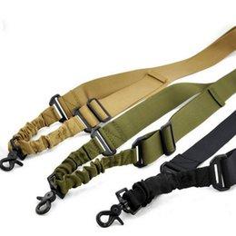 Eslinga Táctica de Nylon al aire libre de un Punto Correa de Bungee Ajustable Para Caza Cinturón Elástico Desprenderse Hebilla de Liberación Rápida en venta