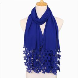 $enCountryForm.capitalKeyWord Australia - NEW design fashion bubble chiffon laser cut flower headbands hollow shawls hijab wrap muslim 27 color scarves scarf 180*85cm