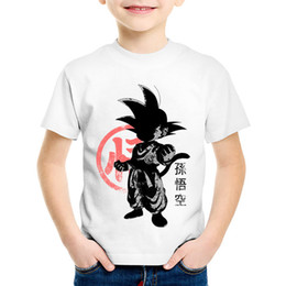 Discount japanese boys fashion - Children Japanese Anime Print Dragon Ball Role Super T-shirts Kids Goku Summer Tees Boys Girls Casual Tops Baby Clothes,