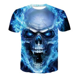 519c01796 good quality New Design Skull Poker Print Men Short Sleeve T Shirt 3d T- shirt Casual Breathable T-shirt Plus-size Tshirt Homme