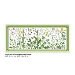$enCountryForm.capitalKeyWord Australia - Europe Scenery FA036 Flowers on the Meadow Pattern Counted Cross Stitch kit DMC 14CT 11CT Printed on Canvas Needlework Embroidery Sets