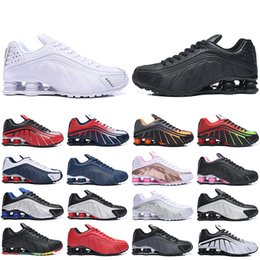 $enCountryForm.capitalKeyWord Australia - Sale Hot Shox R4 Running Shoes For Women Men Dynamic Yellow Black Metallic Og Racer Blue Challenge Red Mens Trainers Designer Sneakers