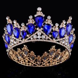 Luxury Bridal Crown Surper Big Rhinestone Crystals Wedding Crowns Crystal Royal Crowns Hair Accessories Party Tiaras Baroque chic Sweet 16 on Sale