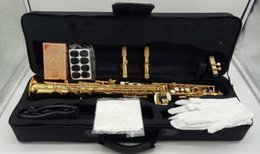 Chinese  High Quality Custom Selmer Mark VI Model Soprano Sax Pitch B Gold Lacquer Saxophone Top Music Mouthpiece Professional Grade manufacturers