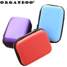 Discount black folding phone - 1 PC Rectangular mobile phone data cable charger storage box zipper box travel organizer gadgets jewelry box avoid