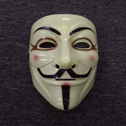 V Vendetta Cosplay UK - Anonymous Guy Fawkes Fancy Dress Adult Costume Accessory macka mascaras halloween The V for Vendetta Party Cosplay masque Mask