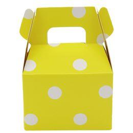 $enCountryForm.capitalKeyWord Australia - 500pcs stripe polka dot chevron Paper Candy Box gift bag Chocolate Packaging Children Birthday Party Wedding Decorations Favors