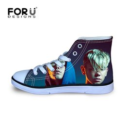 high tops sneakers for girls 2019 - FORUDESIGNS Marcus And Martinus Printing Starts Children Sneakers for Boys Girls Kids Football Boots High Top Sport Shoe