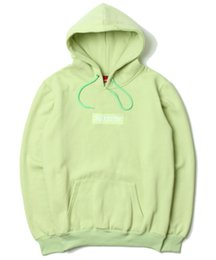$enCountryForm.capitalKeyWord Australia - 2018 new 18ss autumn and winter clothing fashion men and women models Peach powder matcha green couple hoodie plus velvet sweater NMB