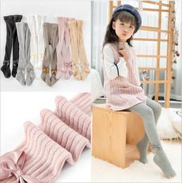 $enCountryForm.capitalKeyWord Canada - Baby Leggings Kids Designer Clothes Girls Bowknot Pantyhose Cotton Princess Tights Skinny Casual Pants Long Stockings Fashion Trousers A5512