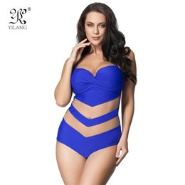 swimsuits women 6xl 2019 - L-6XL Plus Size Swimwear One Piece Swimsuit Summer Holiday Bathing Suit Transparent Lace Swim Wear Sexy Swimming Suit Fo