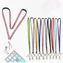 Id badge clasp online shopping - Bling Lanyard Blink Straps Crystal Rhinestone in neck with claw clasp ID Badge Holder for Mobile phone Camera