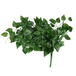 vine leafs NZ - 1Pcs Artificial Fake Hanging Vine Plant Leaves Garland Home Garden Wall Decoration Green DROPSHIP