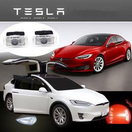 Car Lights Australia - 2pcs 2017 newest hot LED car logo light door Welcome light Ghost Shadow Projector Light for Tesla Model S Model X Model 3