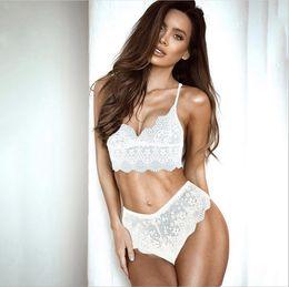 8e24921e5ad9 White bra transparent online shopping - Sexy Lingerie Lace Bra Set Women  Plus Size See Through