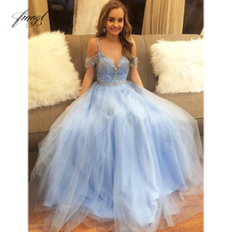 $enCountryForm.capitalKeyWord Australia - Fmogl 2019 A-line Prom Dress Spaghetti Straps Sleeveless Beading Appliques Pattern Tulle Customized Party Evening Dress Floor Length