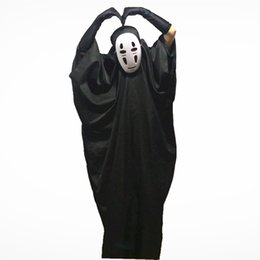 Discount spirit masks - No Face Male Cosplay Masks Gloves Halloween Party Costumes Kids Adults Spirited Away Unisex Stage Wear Role Play Trendy