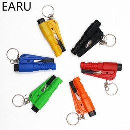 $enCountryForm.capitalKeyWord Australia - 1PC Mini Safety Hammer Car Life-saving Escape Hammer Window Keychain Car Window Broken Emergency Glass Breaker