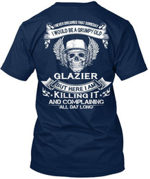 Toptan satış Glazier - Asla bir gün standart unisex tişört olacağını düşünmedim