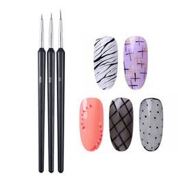 $enCountryForm.capitalKeyWord Australia - 3Pcs Set 2019 New Handle Dotting Painting Drawing Pen Nails Special Pen Pull Line Nail Big Medium And Small Manicure Tools