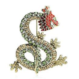 $enCountryForm.capitalKeyWord UK - Dragon Brooch Amethyst Purple Crystal Rhinestone Dragon Brooch Jewelry Embellishment Gold Dragon Broach for Cloth Accessories