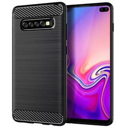 Fiber Slim Australia - Carbon fiber case for Samsung S10 S10 e lite S10 plus slim TPU case for Samsung S7 S8 S9