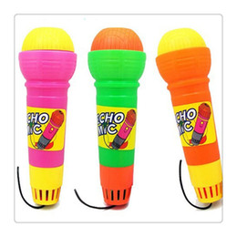 magic mic wholesale NZ - Plastic Magic Mic Novelty Echo Microphone Pretend Play Toy Gift for Children Random Color No Battery