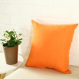 $enCountryForm.capitalKeyWord Australia - Hot Home Sofa Throw Pillowcase Pure Color Polyester White Pillow Cover Cushion Cover Decor Pillow Case Blank christmas Decor Gift