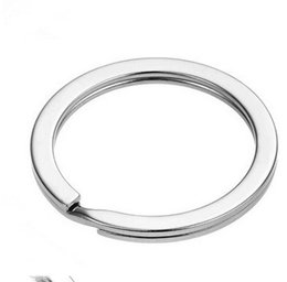 metal rings 25mm UK - 100Pcs Metal Key Holder Split Rings Keyring Keychain Keyfob Accessories 25mm hot sale