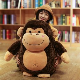 985f914193e Cute Gorilla Plush Doll Forest Animal Monkey Stuffed Toy Dolls Girl Child  Birthday Christmas Gift Deco 30inch 75cm