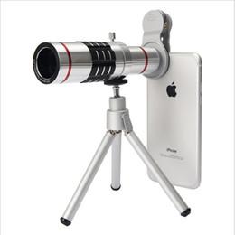 $enCountryForm.capitalKeyWord Australia - Universal 18X Magnification Zoom Metal Optical Mobile Phone Telescope Telephoto Camera Lens With Clip Tripod For iphone 6 7 8 Black Silver