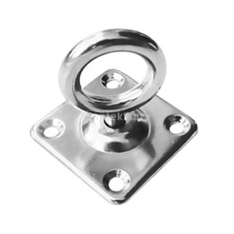 China 316 Stainless Steel Square Swivel Pad Eye Plate Eye Hook Shade Sails Mounting Fixing Kit Marine Boat Rigging Hardware 5mm 6mm supplier stainless steel hooks eyes suppliers