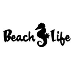 ocean window stickers NZ - Beach Life Seahorse Decal Window Bumper Sticker Car Ocean Fish Beaches Sea Horse