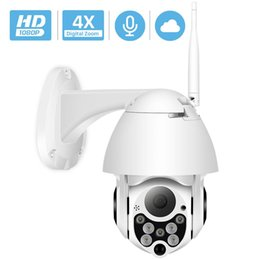 Wholesale 1080P PTZ IP Camera Wifi Outdoor Speed Dome Wireless Wifi Security Camera Pan Tilt 4X Digital Zoom 2MP Network CCTV Surveillance