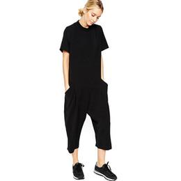 21fa5d3841 black rompers womens jumpsuit seven big jumpsuit side pocket loose-fitting  body jumpsuits romper overalls for women